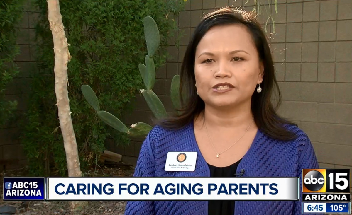 Franchisee Souban Houn-Cairns gives tips on caring for aging parents on ABC-15 TV (ABC) in Phoenix
