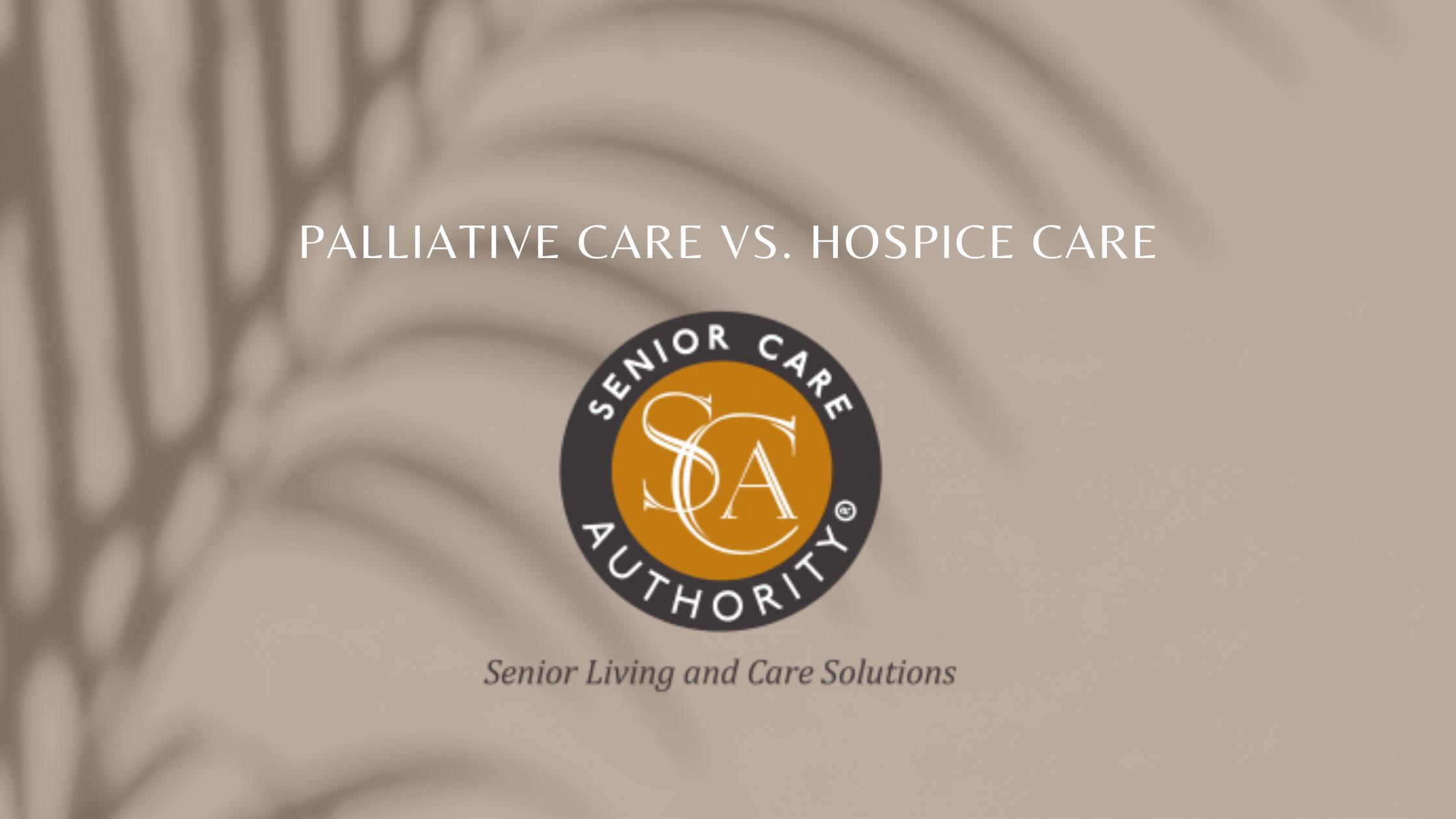 Palliative Care Vs. Hospice