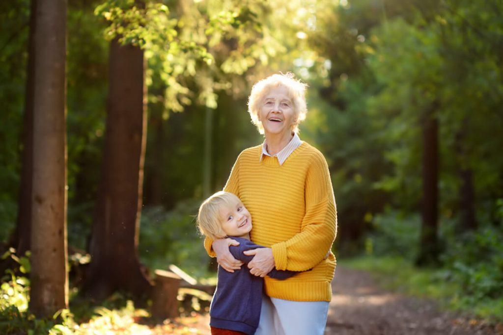 Grandma with her granddaughter